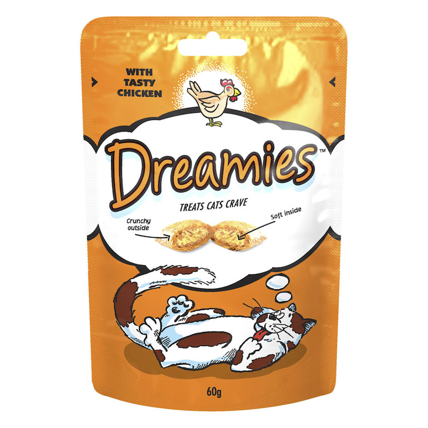 Dreamies Cat Treat Chicken 60g